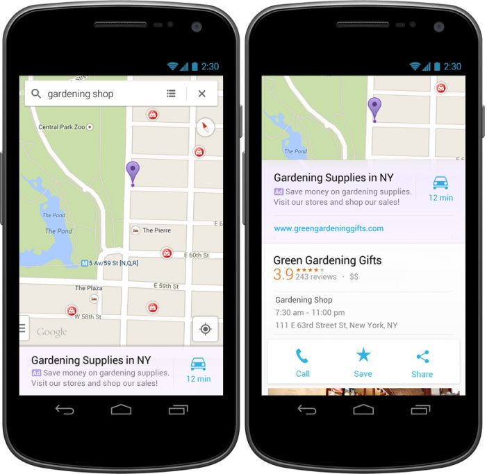 Google Expands Mobile Push With Ads in Its Maps App