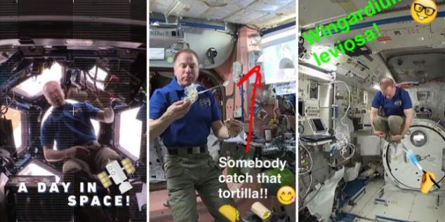 NASA uses Snapchat to showcase life aboard the International Space Station