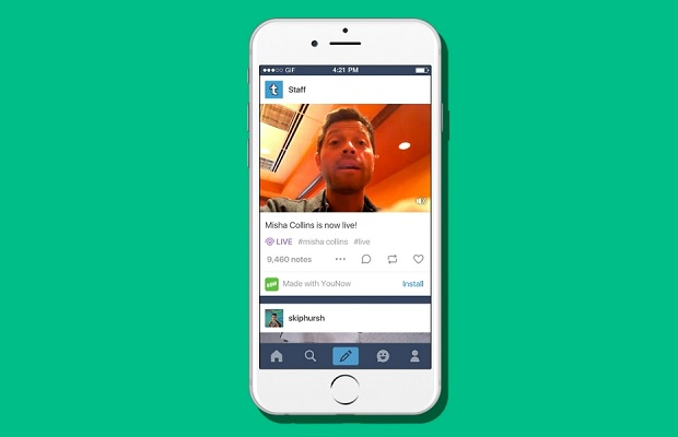 Tumblr takes on Facebook and Periscope with live video