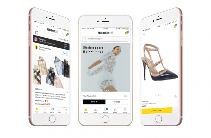 Selfridges Launches Social Shopping App