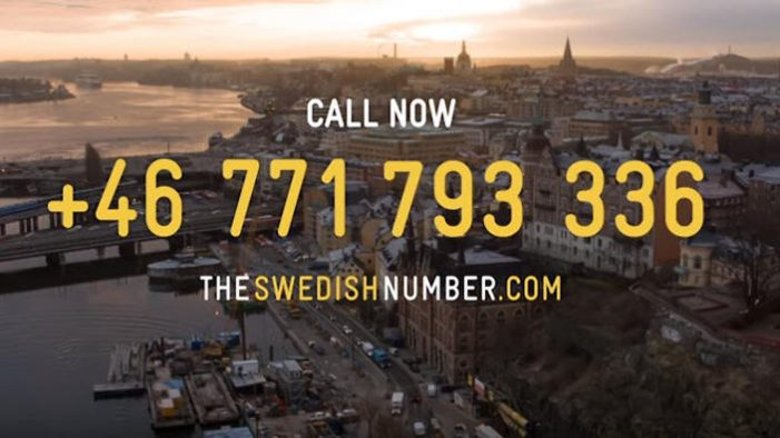 Sweden Creates the World's First Telephone Number For the Country