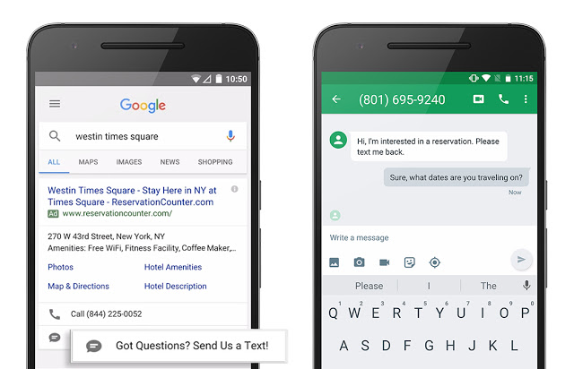 New AdWords service makes it easy to send texts consumers will actually read