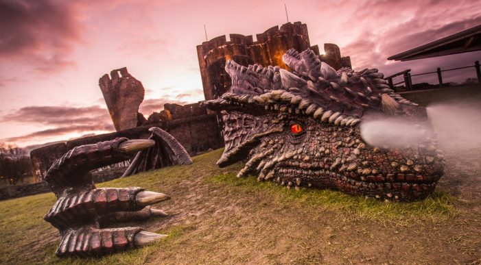 Welsh Government Deploys Beacons to 10 Castles and One Dragon