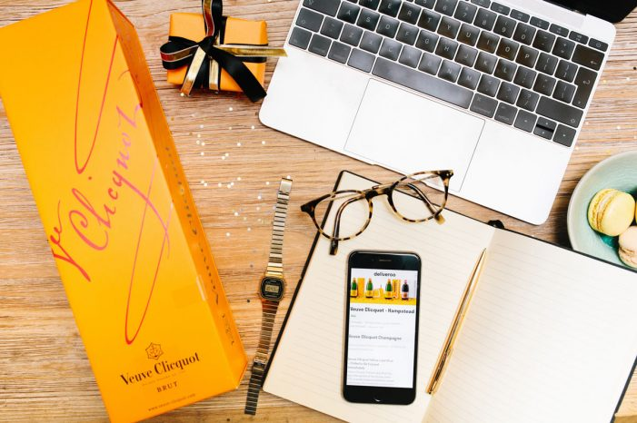 Veuve Clicquot Delivered at the Touch of a Button Courtesy Deliveroo