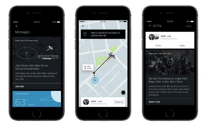 Uber Teams Up with Star Wars for Rogue One Promotion