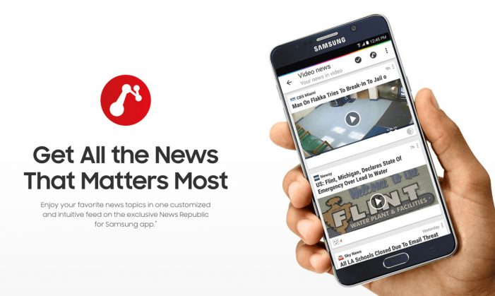 Cheetah Mobile's News Republic Launches New 'Made for Samsung' App