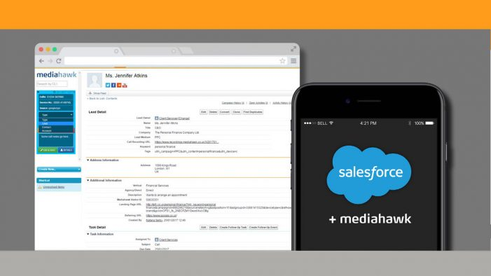 Mediahawk Integrates with Salesforce for Better Marketing Attribution and Sales Data