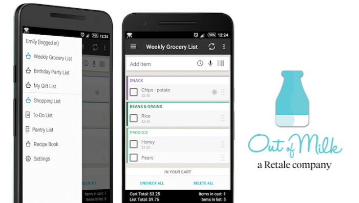 retale acquires popular shopping list app out of milk lovely