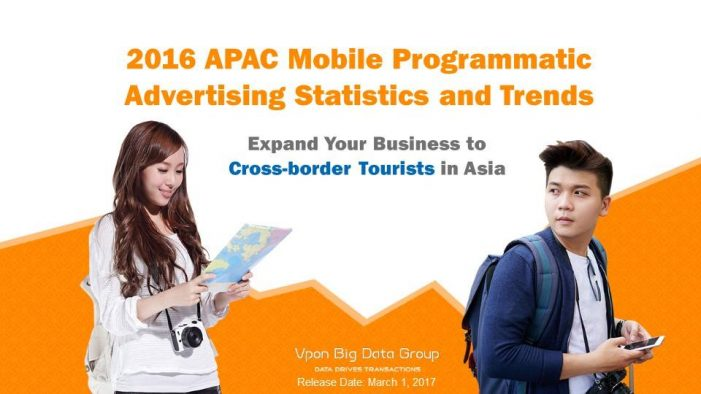 Vpon Releases the Latest APAC Mobile Programmatic Advertising Statistics and Trends Report