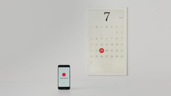New e-ink calendar syncs to Google account