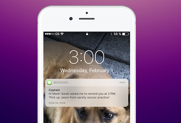 Yahoo text-based chatbot sets reminders and shopping lists for family
