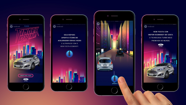 GTB Brazil and Ford Transform Instagram Stories into an Interactive Game