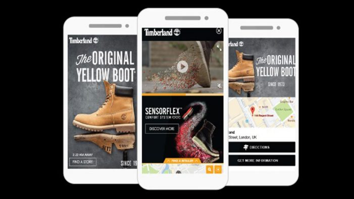 Timberland drives store footfall with mobile location ads