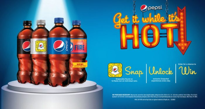 Pepsi team with Snapchat and offer prizes to support launch of new Pepsi Fire