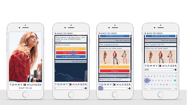 Tommy Hilfiger debuts world's first video ad chatbot