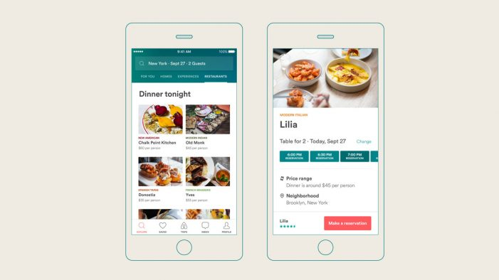 Airbnb and Resy Team Up to Offer In-App Restaurant Reservations