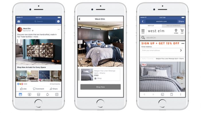 Facebook brings print catalogues to mobile with collection ads update