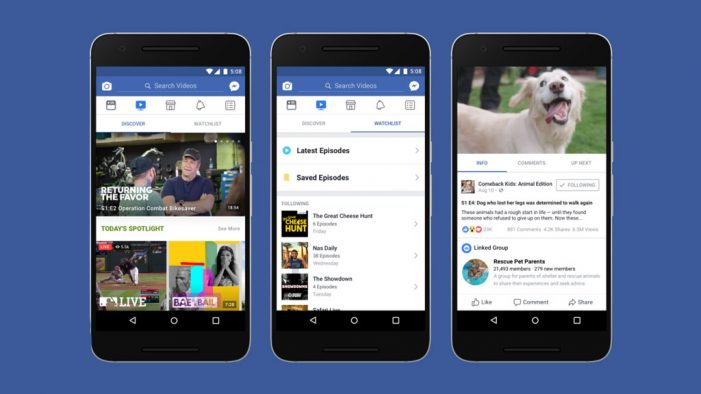 Facebook launches Watch video service in the US