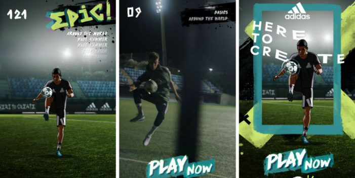 Adidas unveils its first ever Snapchat game, a keepie-uppie Snap Ad