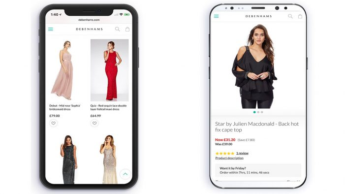 Debenhams strengthens its Multi-Channel Offering with a New Mobile Site