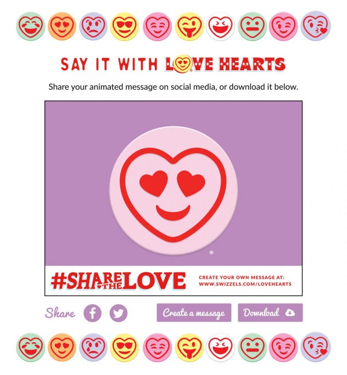 Iconic Love Hearts Brand Receives A Modern Makeover Supported by Digital Campaign