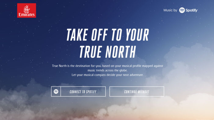 Emirates wants to help Australians find their True North with the help of Spotify