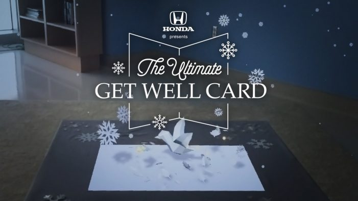 Honda gives 'ultimate get well card' AR experience to young patients