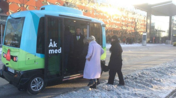 Sweden's first driverless buses hit the streets
