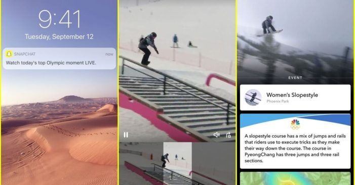 Snapchat's new live video mode goes for Olympic gold