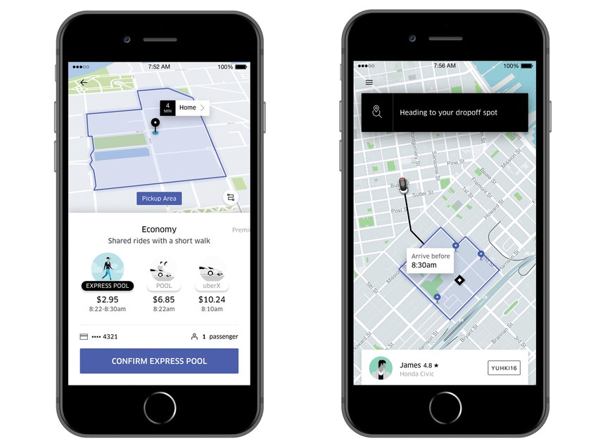 uber officially launches uber express pool in select cities lovely mobile news. Black Bedroom Furniture Sets. Home Design Ideas