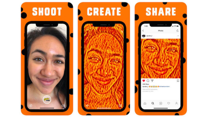 Cheetos launches 'Cheetos Vision' AR app at SXSW