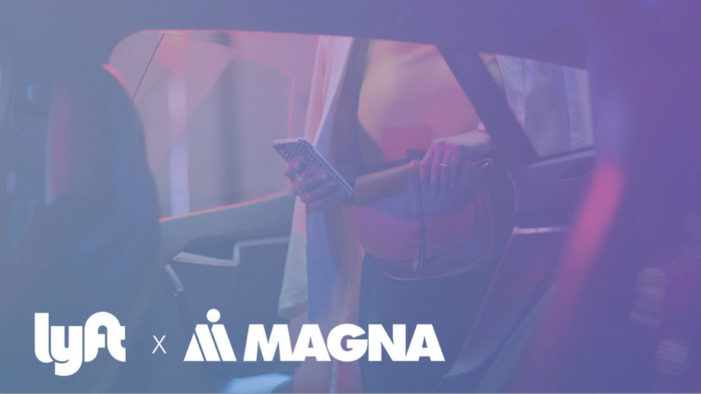 Lyft is building a self-driving platform with auto supplier Magna