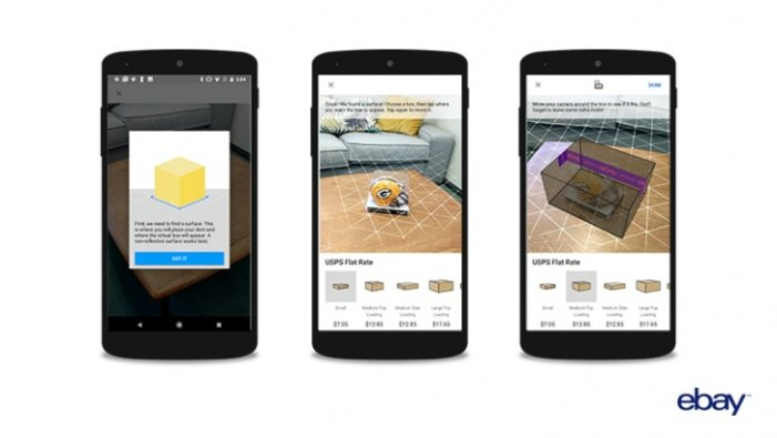 eBay uses augmented reality to help you pick packaging