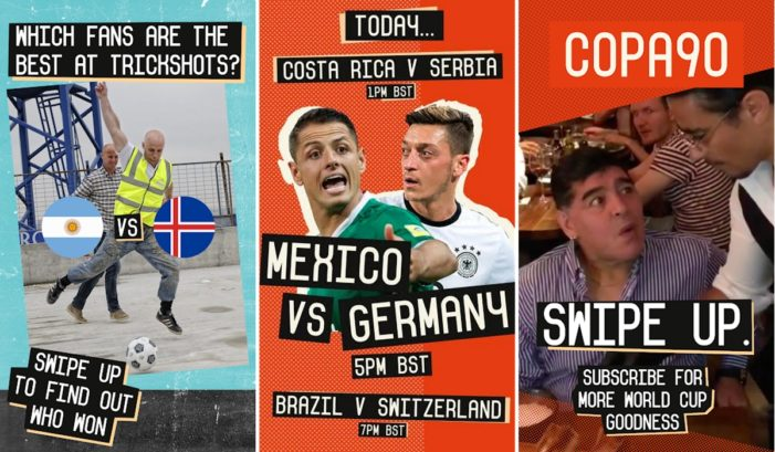 Copa90 partners with Snapchat to deliver first-person fan footage from FIFA World Cup 2018