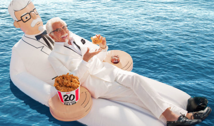 KFC gives away Colonel Sanders floaties via Snapchat for Memorial Day