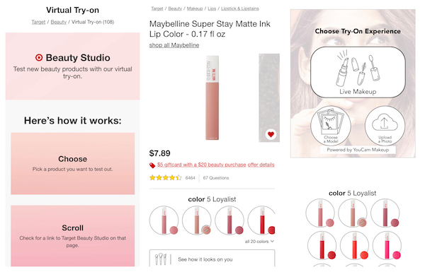 Target's AR 'studio' helps you try on makeup at home
