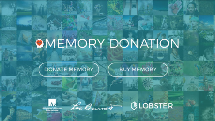 Lobster launch MemoryDonation campaign in support of dementia awareness