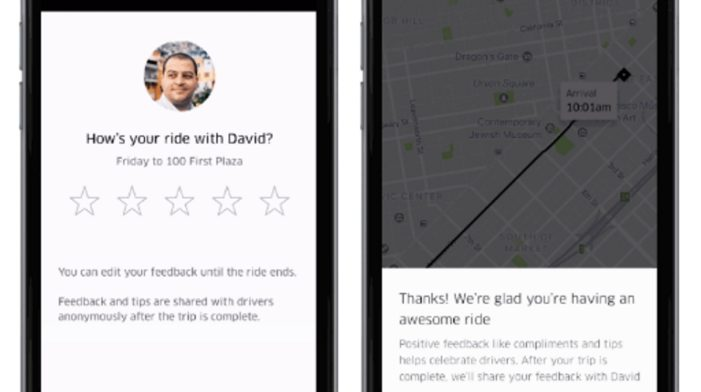 Uber now lets you rate your driver before your ride is over