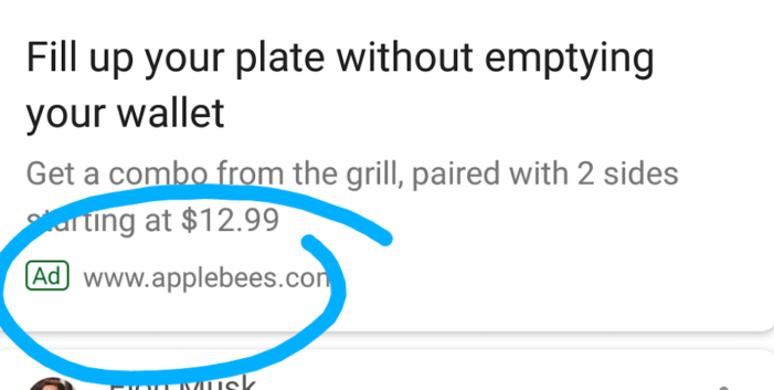 Google tests in-app ads for Feed
