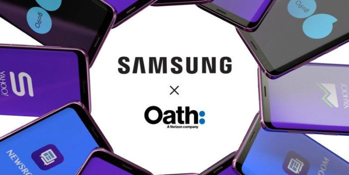 Oath pens distribution deal with Samsung