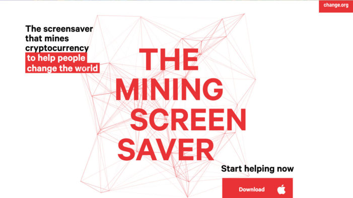 Meet The Mining Screensaver, a project that helps change the world from a screensaver