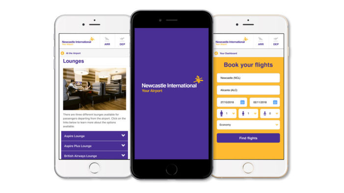 Shout Digital's new app for Newcastle Airport makes flying stress-free this summer