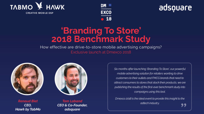 TabMo announces results of 'Branding to Store' study at DMEXCO 2018