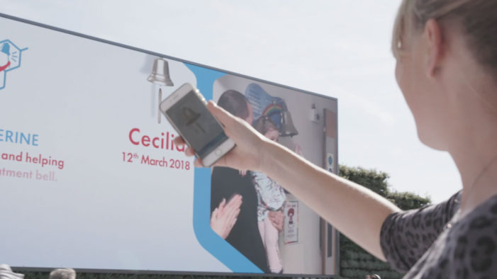 """Children with Cancer UK launch social video """"Ring the Bell"""" featuring interactive donation billboard"""