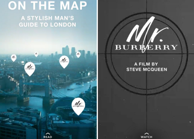 Burberry becomes the first luxury brand to run a Snapchat Discover channel native ad