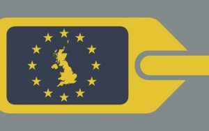 United Kingdom European luggage label