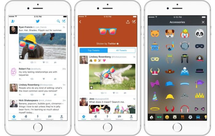 Twitter now lets you insert searchable stickers into photos