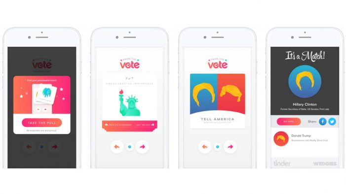 Tinder Asks Users to 'Swipe the Vote'
