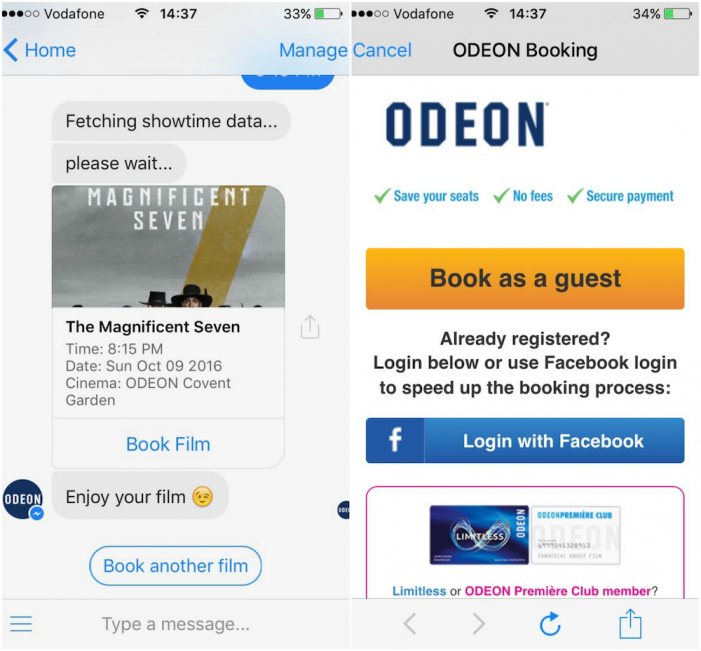 Gruvi launches first European cinema chatbot for ODEON Cinemas