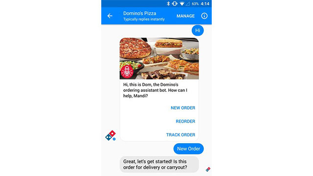 Domino's Now Lets You Order Any Menu Item Through Messenger